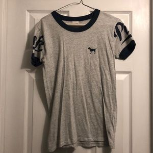 Short sleeve VS varsity PINK shirt